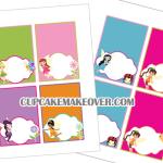 cute editable Fairy Food cards
