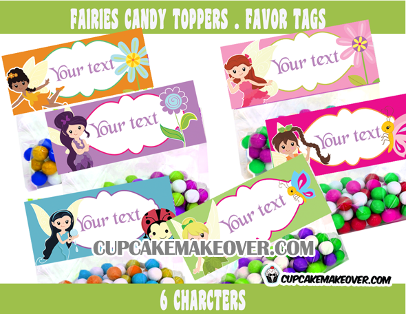 Fairies Treat Bag Toppers