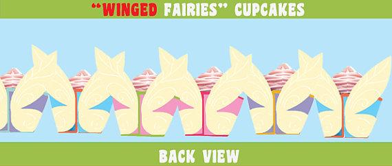 Fairy Wings Cupcakes