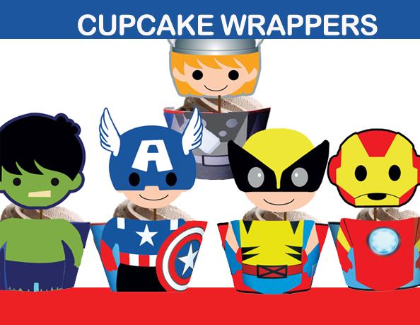 superhero ironman hulk cupcakes