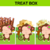 pink and green party favors