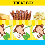 first birthday yellow treat box