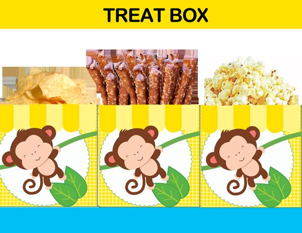 first birthday yellow treat box