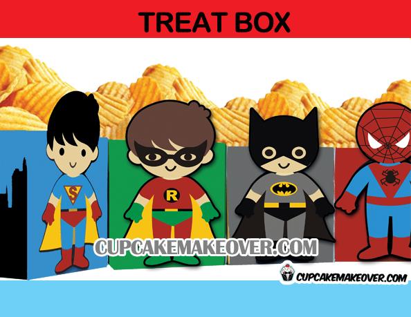 superhero treat box