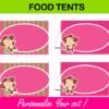 printable editable food tents
