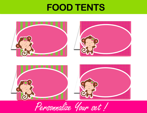 printable editable food tents