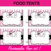 editable food tents