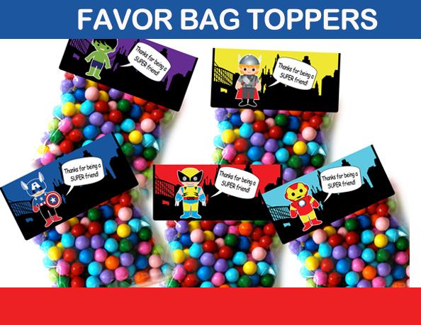 favor bag labels
