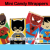 superhero mini candy wrappers