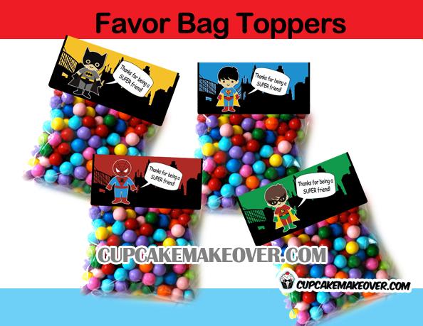 favor bag toppers