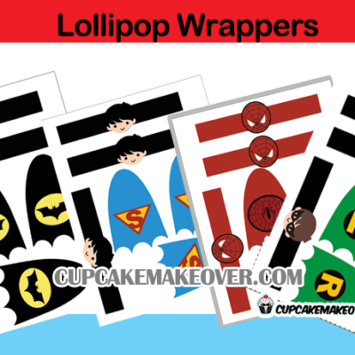 superhero lollipop cape and mask