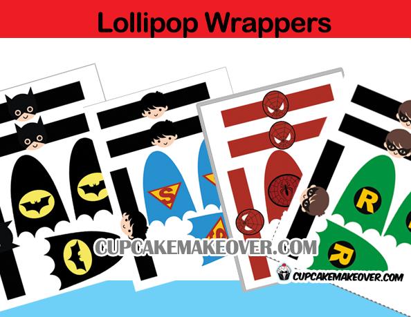 superhero lollipop cape and mask