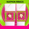 monkey pink green napkins