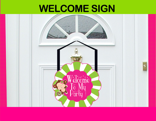 mod monkey welcome sign