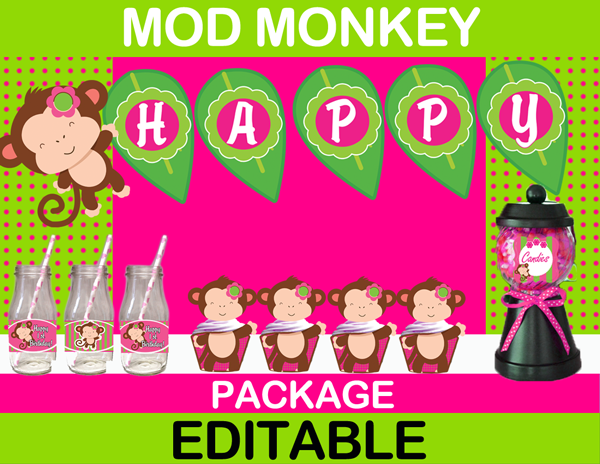 Mod Monkey Girl party