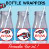 plane bottle labels