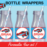 plane bottle labels