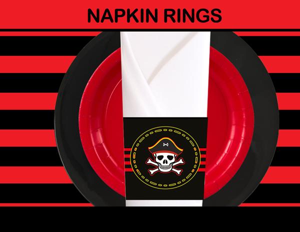 pirates napkin rings