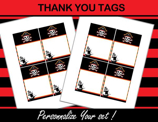 pirates favor tags editable