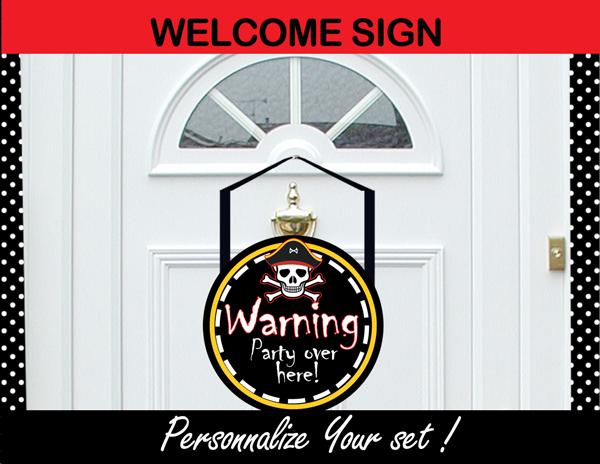 pirates door sign