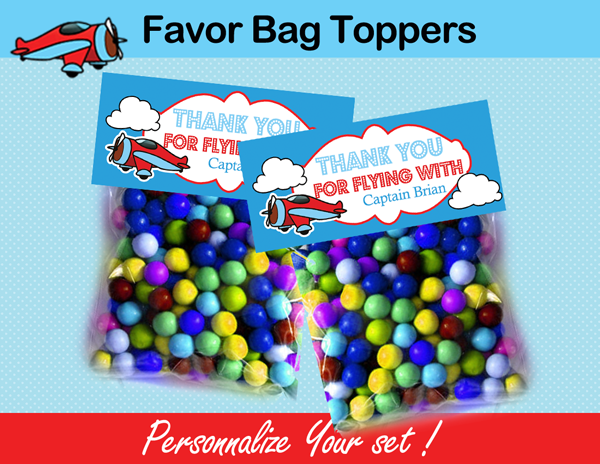 Airplane bag toppers