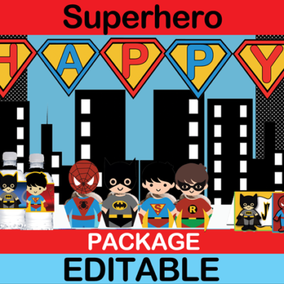 Superhero Birthday package