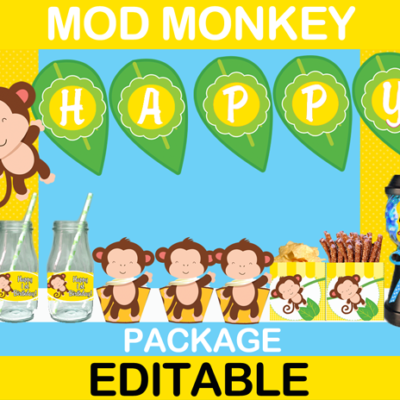 first birthday Mod Monkey