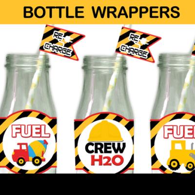 construction bottle labels