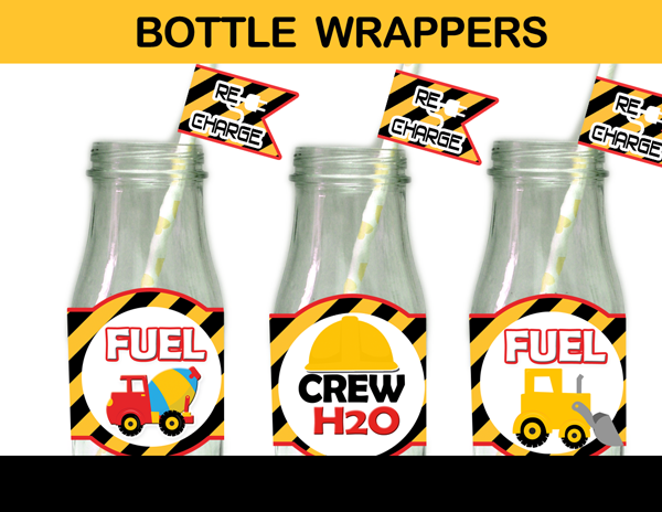 construction bottle labels