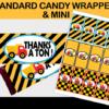 construction candy bar labels