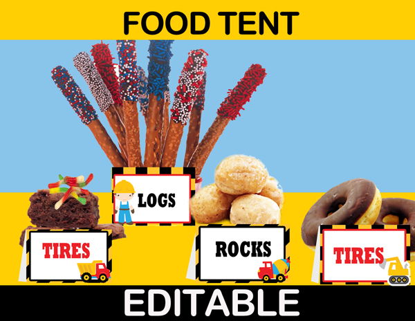 editable food labels