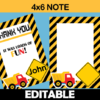 editable printable construction party notes