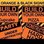 construction birthday signs