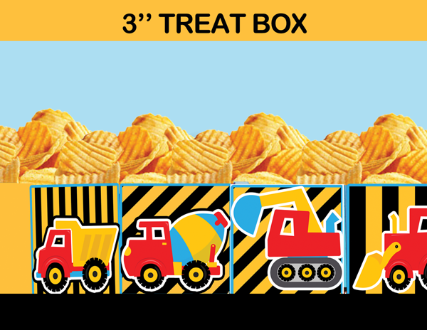 construction party popcorn box