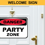 party welcome sign