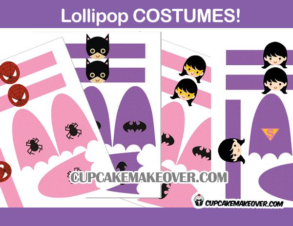 girls lollipop super hero