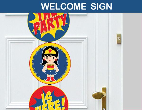 Wonder Girl Superhero Party Package Instant Download