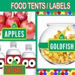 editable printable food tents