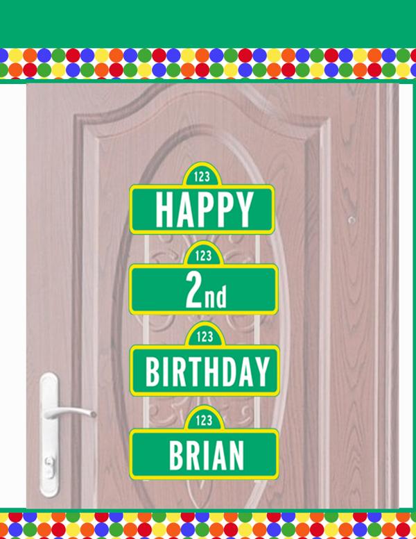 elmo birthday welcome sign