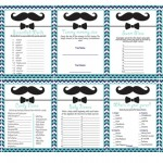 mustache themed baby shower games