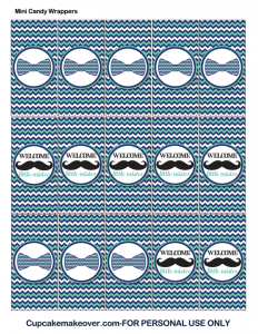 mustache and bow tie mini candy labels