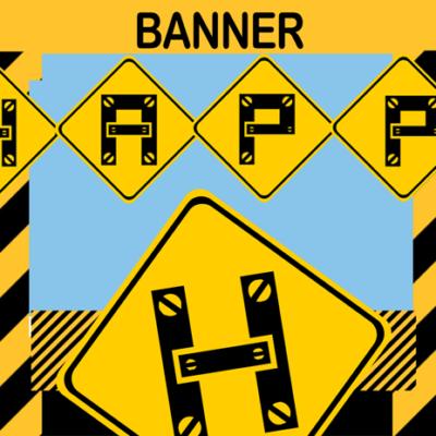 printable construction birthday party banner diy
