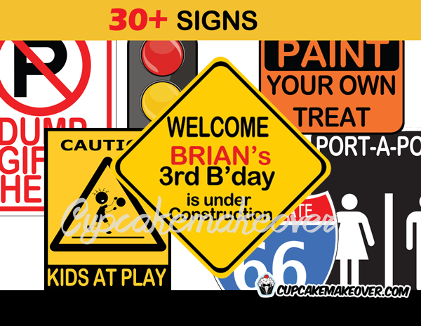 photograph regarding Construction Signs Printable called Structure Social gathering Signs and symptoms - Immediate Down load