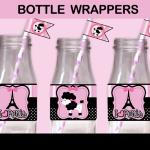 poodle paris bottle labels straw flags
