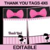 poodle in paris editable favor tags