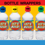 lego bricks bottle labels