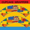 lego bricks cupcake wrappers