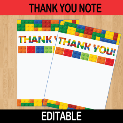editable thank you card building blocks