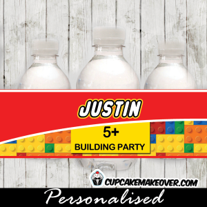 printable lego birthday water bottle labels
