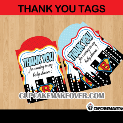 editable favor tags super baby